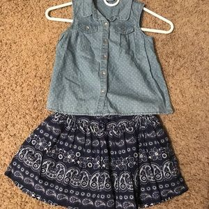 Little girls skirt set